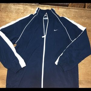 NIKE blue and white windbreakers men's Large
